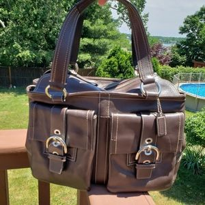 COACH Lg Soho Double Front Pocket Tote EUC